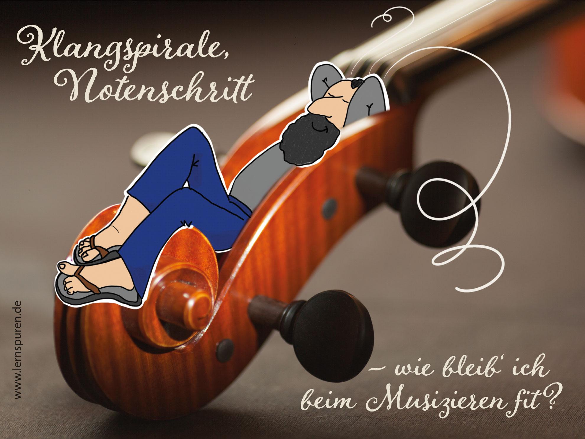 Musiker in Klangspirale - lernspuren